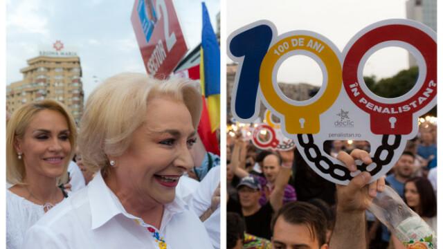 Cele două Românii. Protestele din weekend: PSD contra #rezist