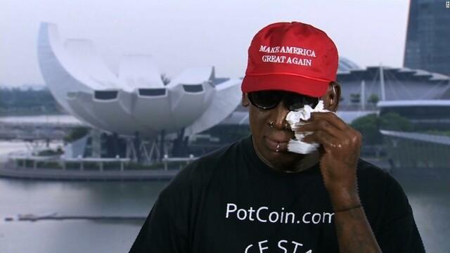 Fostul baschetbalist american Dennis Rodman a plâns la summit-ul Trump-Kim