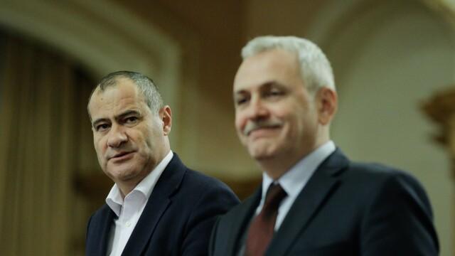 Marian Neacsu si Liviu Dragnea inainte de sedinţa Biroului Permanent Naţional al PSD