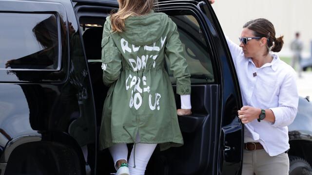 Ținuta controversată purtată de Melania Trump, în vizită la frontiera cu Mexicul