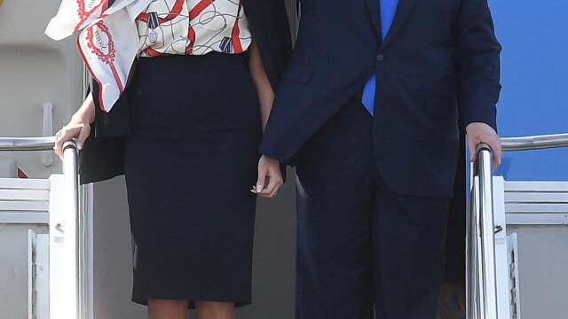 """Melania Trump, apariție în stil """"My Fair Lady"""" în Marea Britanie. GALERIE FOTO - Imaginea 2"""