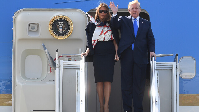 """Melania Trump, apariție în stil """"My Fair Lady"""" în Marea Britanie. GALERIE FOTO - Imaginea 4"""