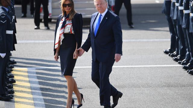 """Melania Trump, apariție în stil """"My Fair Lady"""" în Marea Britanie. GALERIE FOTO - Imaginea 5"""