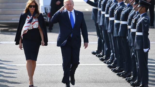 """Melania Trump, apariție în stil """"My Fair Lady"""" în Marea Britanie. GALERIE FOTO - Imaginea 8"""