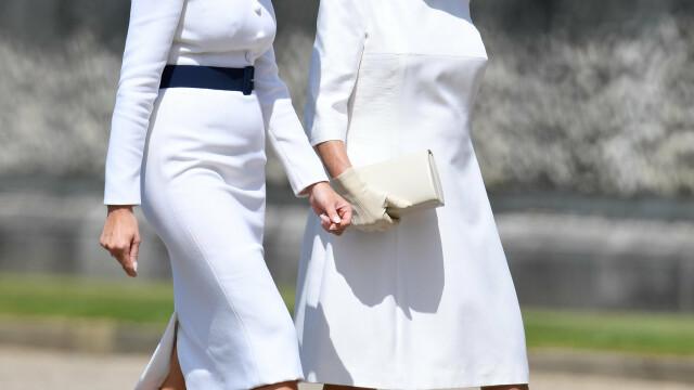"""Melania Trump, apariție în stil """"My Fair Lady"""" în Marea Britanie. GALERIE FOTO - Imaginea 10"""