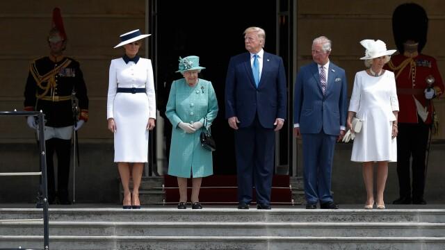 """Melania Trump, apariție în stil """"My Fair Lady"""" în Marea Britanie. GALERIE FOTO - Imaginea 12"""