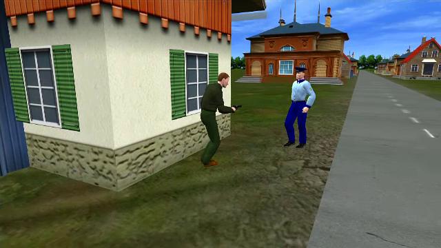 polițist ucis, Timiș - animație grafică