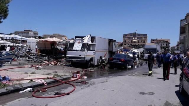 Explozie într-o piață din Italia: sunt 20 de răniți, dintre care 4 grav. VIDEO - Imaginea 3