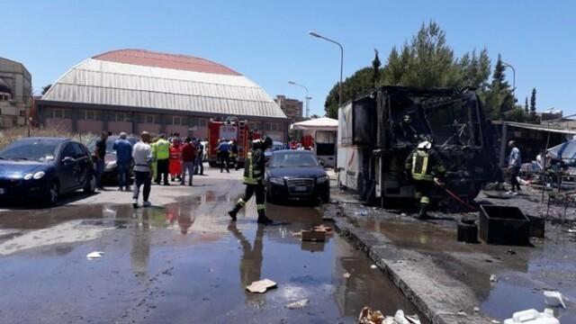 Explozie într-o piață din Italia: sunt 20 de răniți, dintre care 4 grav. VIDEO - Imaginea 4