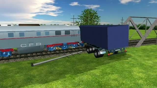 ANIMAȚIE GRAFICĂ cu trenul deraiat după ce a lovit un camion în Bacău - Imaginea 21