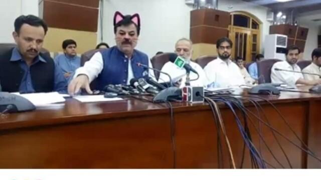 Politicieni cu mustăți și urechi de pisică, în timpul unei ședințe. Momentul, transmis live - Imaginea 4