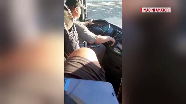 Coșmarul trăit de 40 de români în drum spre Spania. Cum au fost filmați șoferii autocarului