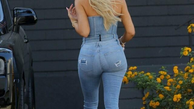 Cum a fost surprinsă Khloe Kardashian. A atras toate privirile. GALERIE FOTO - 9