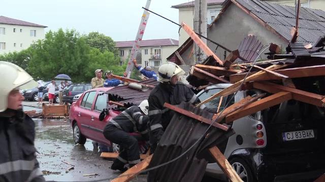 Momentul în care furtunile tropicale au provocat pagube majore în mai multe județe din țară
