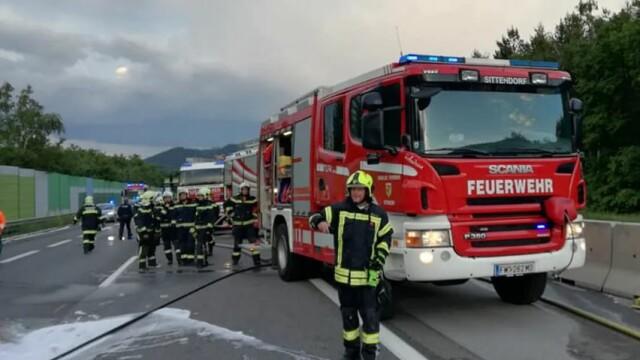 Autocar în care erau 49 de români, mistuit de flăcări pe o autostradă din Austria - Imaginea 3