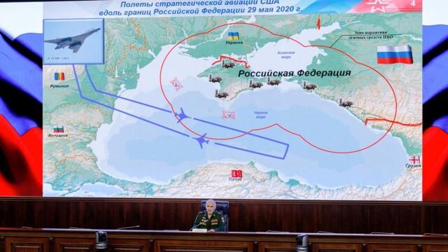 """Bombardiere americane și avioane de vânătoare din România au exersat """"decapitarea"""" flotei Rusiei, în Marea Neagră - Imaginea 3"""
