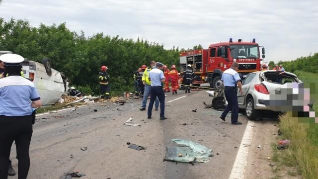 Zi neagră pe șoselele din Teleorman. 5 oameni au murit, 6 mașini implicate - Imaginea 1