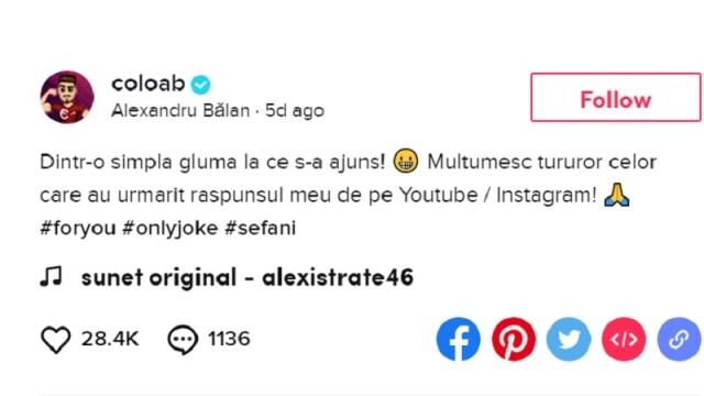 Mesajul vloggerului