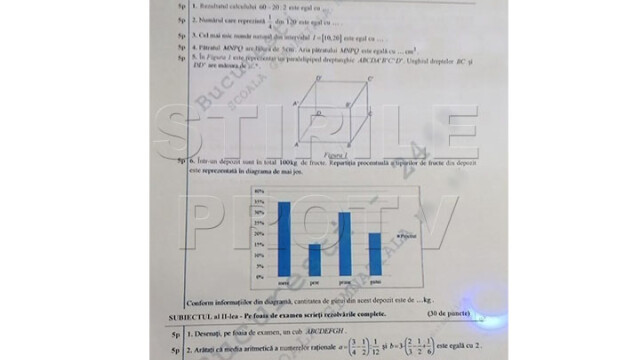 Rezolvarea subiectelor la Matematică, Evaluare Națională. Care este baremul de corectare - Imaginea 2