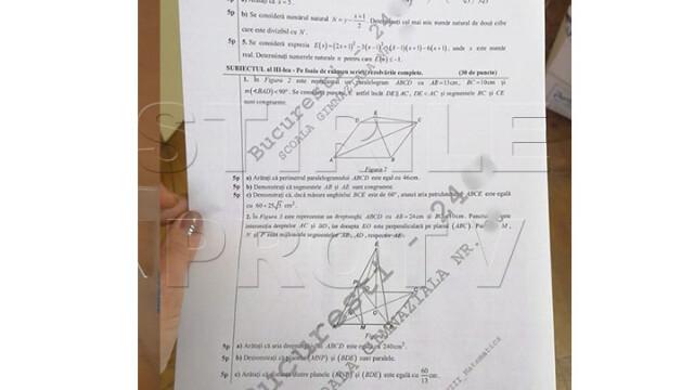 Rezolvarea subiectelor la Matematică, Evaluare Națională. Care este baremul de corectare - Imaginea 3
