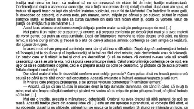 SUBIECTE Bacalaureat 2020 Română. Avem subiectele la limba și literatura română. Baremul de corectare - Imaginea 1