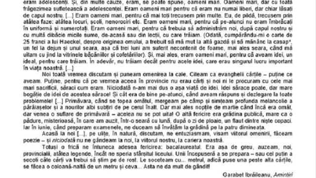 SUBIECTE Bacalaureat 2020 Română. Avem subiectele la limba și literatura română. Baremul de corectare - Imaginea 9