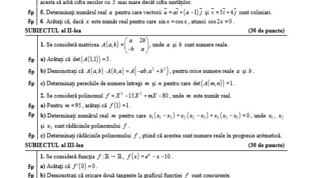 Subiecte BAC 2020 Istorie și Matematică. Avem subiectele care au picat azi și baremele de corectare - Imaginea 4