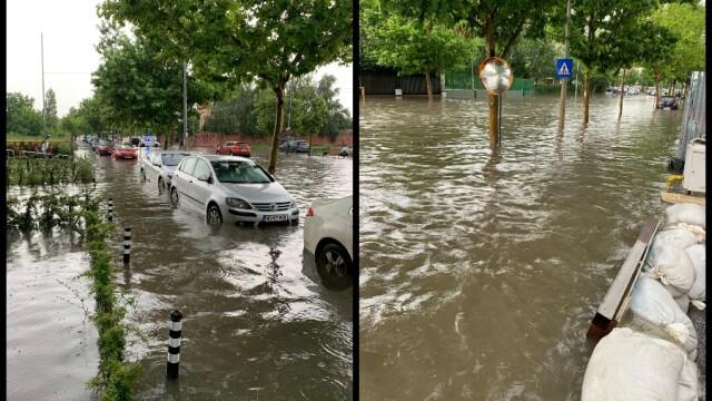 Furtuna a făcut ravagii în București și Ilfov. Pasaje, intersecții și bulevarde, inundate - Imaginea 1