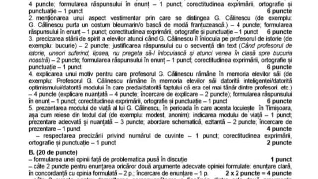 SUBIECTE Bacalaureat 2020 Română. Avem subiectele la limba și literatura română. Baremul de corectare - Imaginea 24