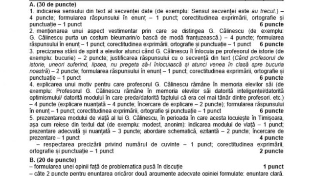 SUBIECTE Bacalaureat 2020 Română. Avem subiectele la limba și literatura română. Baremul de corectare - Imaginea 25