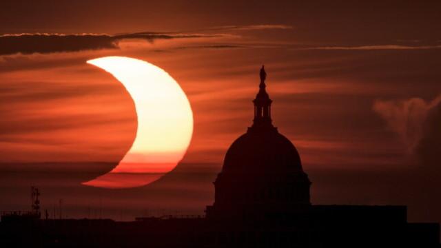 eclipsa de soare, SUA, Europa