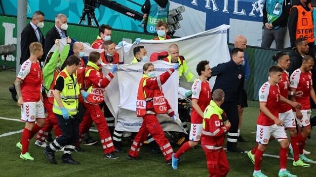 Momente de groază la EURO 2020, după ce danezul Eriksen s-a prăbuşit pe teren. UEFA a anunțat că starea sa este stabilă - Imaginea 3