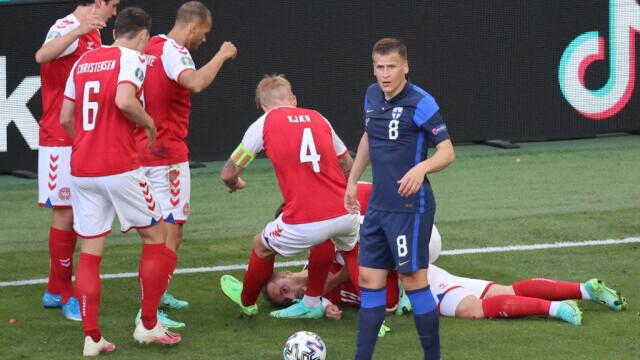 Momente de groază la EURO 2020, după ce danezul Eriksen s-a prăbuşit pe teren. UEFA a anunțat că starea sa este stabilă - Imaginea 4