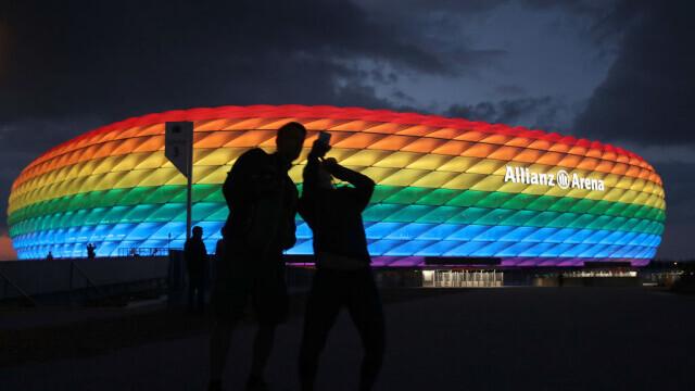 EURO 2020. UEFA nu vrea ca Germania să ilumineze un stadion în culorile LGBT