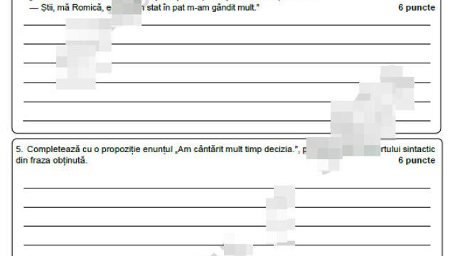 Subiecte Evaluare Națională 2021. Elevii au susținut prima probă scrisă, la Limba Română - Imaginea 2