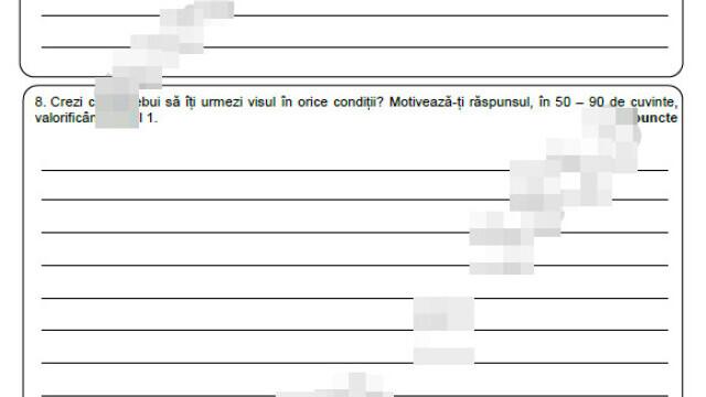 Subiecte Evaluare Națională 2021. Elevii au susținut prima probă scrisă, la Limba Română - Imaginea 8