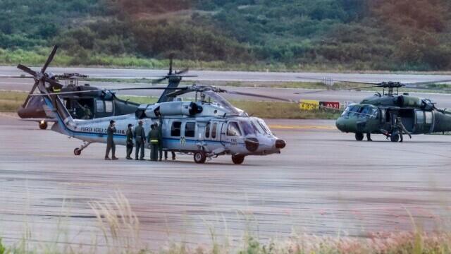 VIDEO. Elicopterul în care se afla un important șef de stat, ciuruit de gloanțe. În ce stare se află