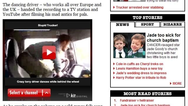 Tarzan de la volan, celebru in TheSun: Politistii din Europa, pe urmele lui - Imaginea 2