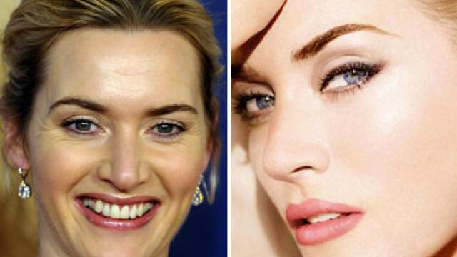 Minunea numita Photoshop. Kate Winslet, fara urma de riduri. VIDEO