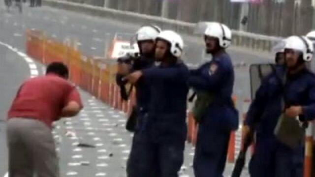 VIDEO socant din Bahrain.Un barbat e impuscat in fata cu gloante de cauciuc - Imaginea 1