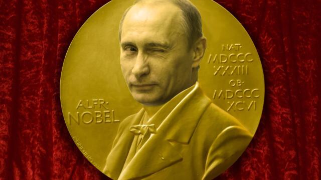 Putin pe medalia Nobel