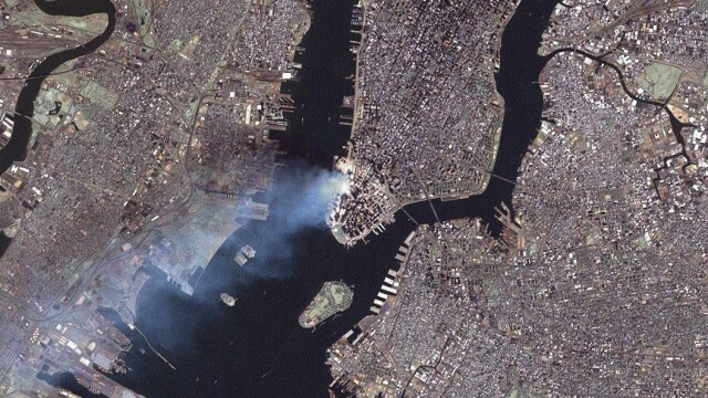 Manhattan, in timpul atacurilor de la 11 septembrie