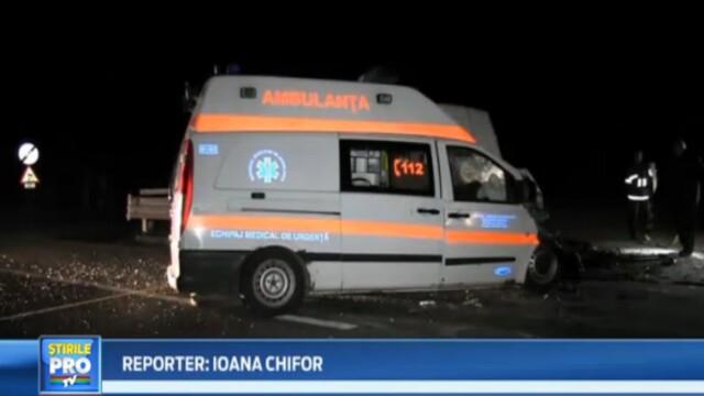Impact violent aseara pe drumul national 1 C, la iesirea din Dej