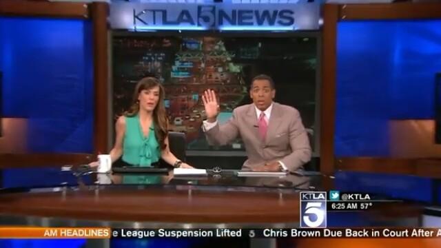 Test de spontaneitate, in direct. Cum au reactionat doi prezentatori TV in timpul unui cutremur inregistrat in Los Angeles