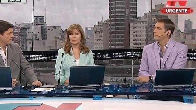 Moment SF in timpul unei emisiuni din Argentina. Un OZN isi face aparitia in spatele prezentatorilor