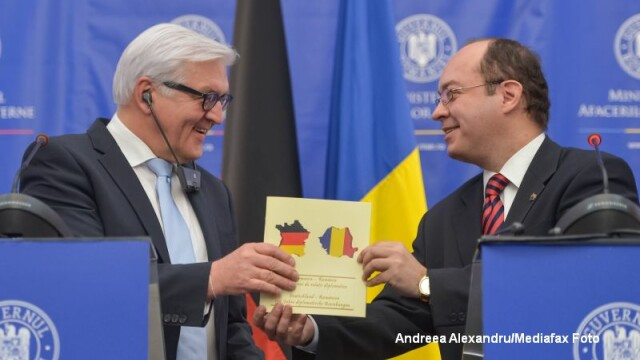 Ministrul german de Externe Frank-Walter Steinmeier, vizita in Romania. Gafa comisa de catre Bogdan Aurescu