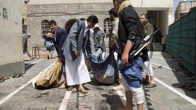 Grupul terorist Stat Islamic revendica atentatele comise in Yemen, soldate cu cel putin 137 de morti