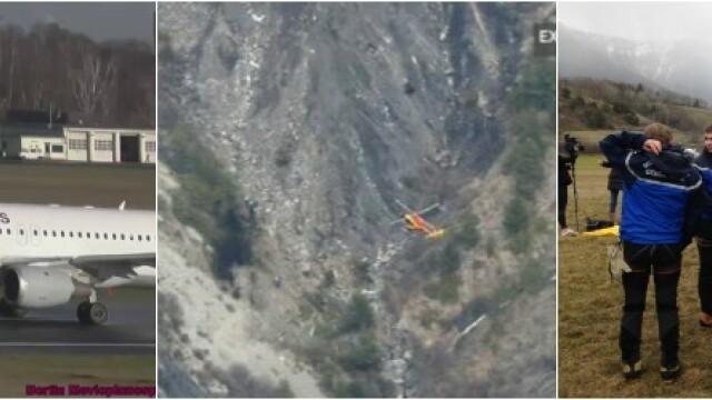 Avionul prabusit in Franta: elicopterele de salvare au revenit la sol. Cautarile vor fi reluate dimineata