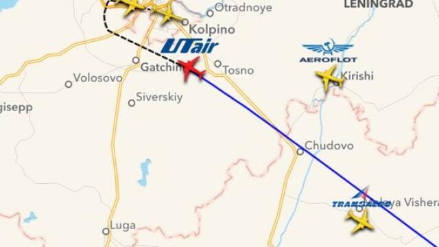 Avionul rusesc a aterizat in siguranta pe aeroportul din Sankt Petersburg. \