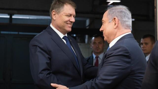 Iohannis s-a intalnit cu Netanyahu: Multumim Israelului pentru solidaritatea manifestata in urma tragediei din Colectiv